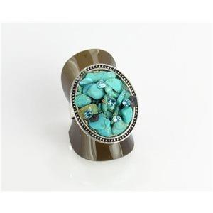 BAGUE RONDE TURQUOISE
